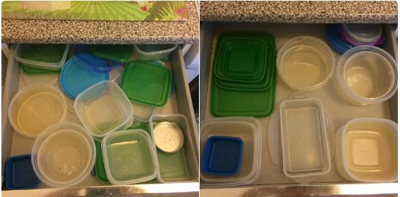 Este cajón antes y despues.