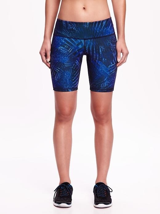 These printed compression shorts that fall just above the knee.