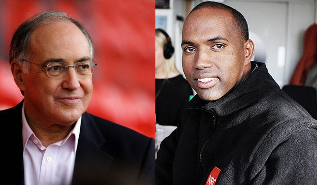 """Michael Howard (left), former home secretary and Conservative party leader, chairs Soma Oil and Gas. Hassan Khaire (right), the company's executive director for Africa, was investigated by a UN panel over """"possible links"""" with extremist groups including al-Shabaab. It found no evidence of any such connections."""