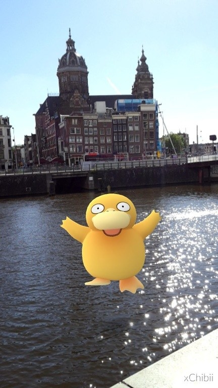Psyduck visits Amsterdam for the museums.