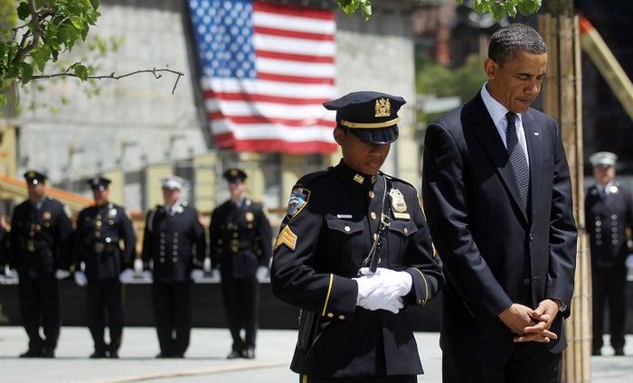 Obama at Ground Zero in 2011.