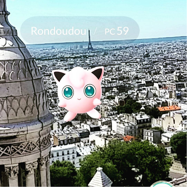 Jigglypuff steals our hearts at Sacré Coeur in Montmartre.