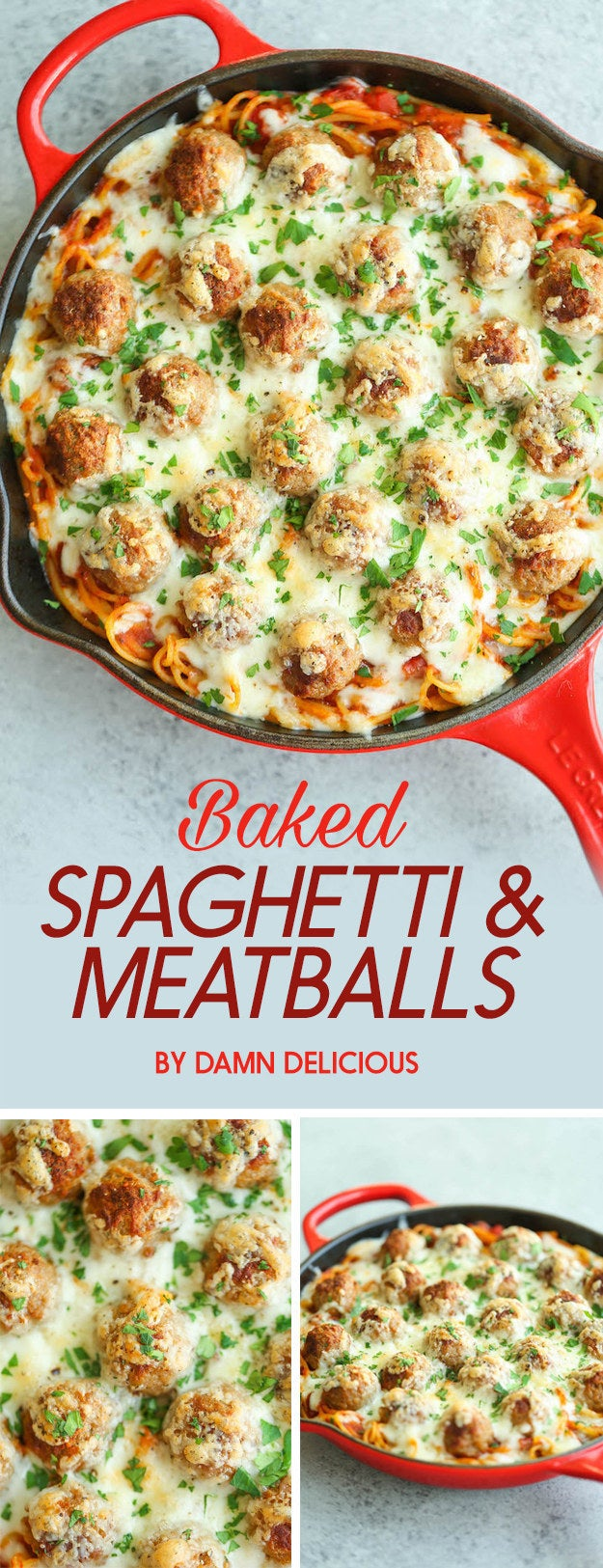 An easy way to serve spaghetti and meatballs for a crowd. Plus, you get that deliciously crispy cheese on top. Get the recipe here.
