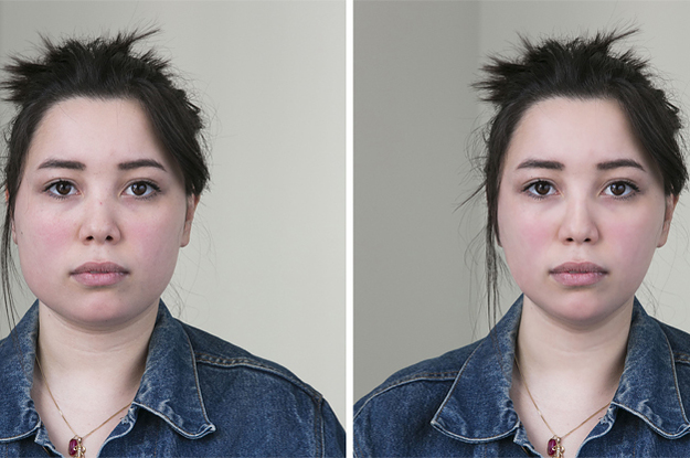 This Is What 6 Faces Look Like After Being Photoshopped By