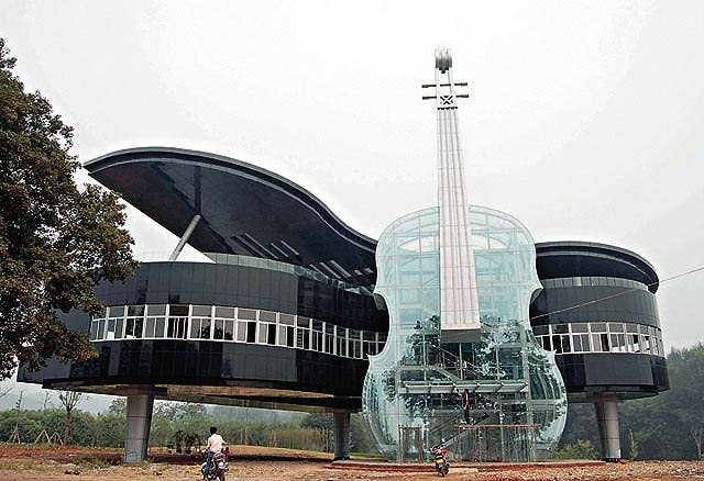 Location: Huainan, China. City planners who use it can access this  beautiful piano