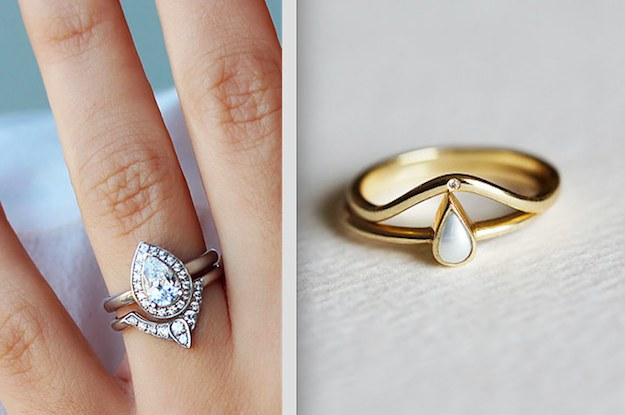 19 stunning stacked wedding ring sets youll say yes to - Engagement And Wedding Ring Sets