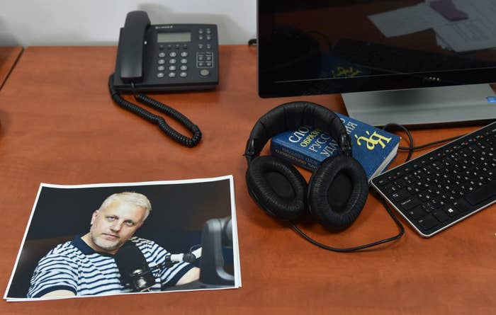 """Sheremet was born in Belarus but was a Russian citizen who worked in Moscow for years before leaving Russian Public Television (ORT) in 2014 over Russia's annexation of Crimea. An aide to Ukraine's interior minister was quoted in the Guardian saying that """"investigators suspected a homemade explosive device of 400-600 grams of TNT equivalent that was possibly detonated remotely."""""""