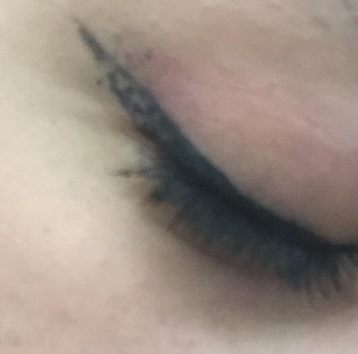 Eyeliner wings not staying perfectly pointed for very long.