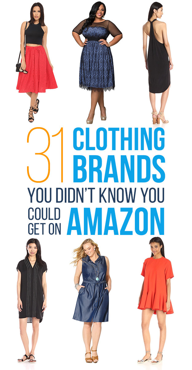 31 Fashion Brands You Didn 39 T Know You Can Get On Amazon
