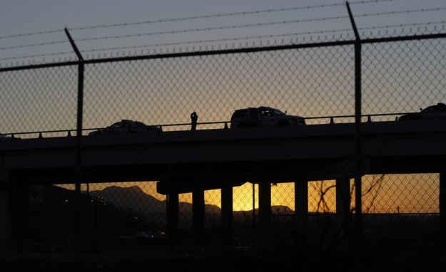 Bridge near the border in El Paso, Texas.