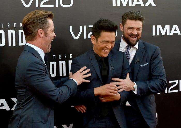 Co-stars Chris Pine, John Cho, and Karl Urban certainly enjoyed themselves!