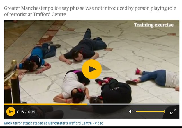 It's actually is from a police training in Manchester, England.