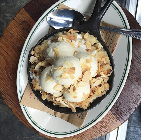 """""""I don't even know how to describe this amazing creation properly, but it is hands down one of the best desserts I have ever tried in my life. The biscuit part of it is so warm and soft and balances perfectly with the ice cream. Bonus: Jacob's also has the best fried chicken and biscuits in Manhattan!"""" —ariellecalderon"""