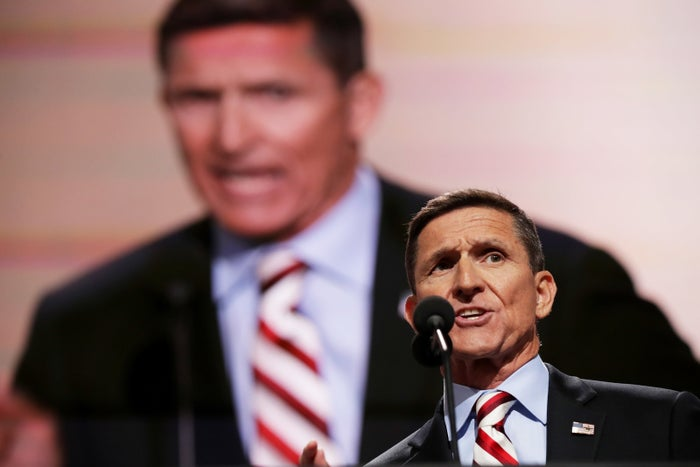Flynn speaking at the RNC in Cleveland.