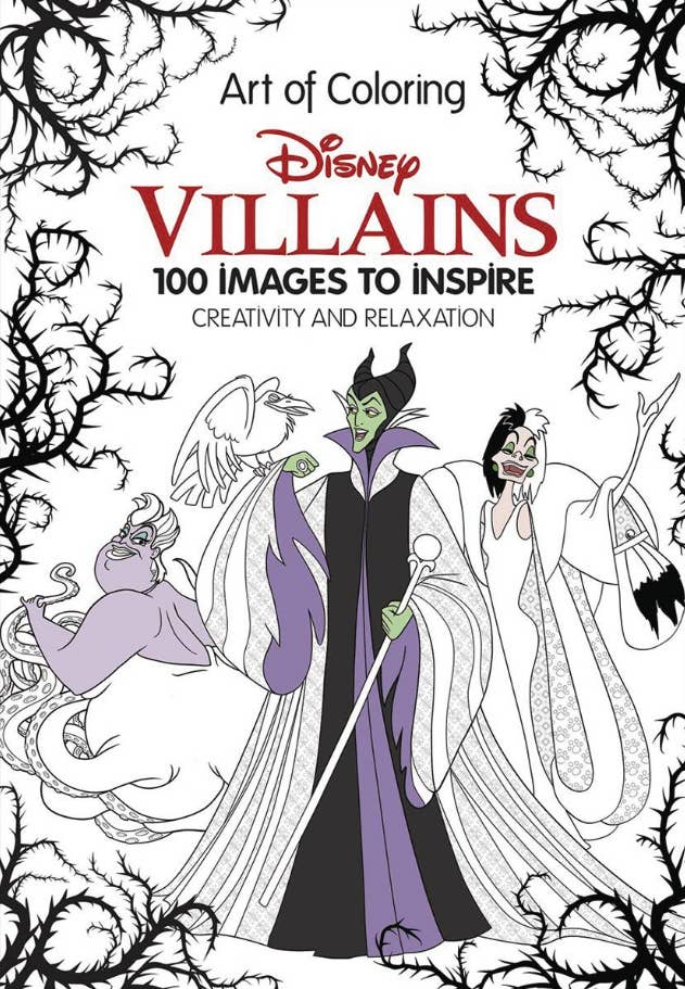 10 A Disney Coloring Book For People Who Prefer The Bad Guys To Good Ones