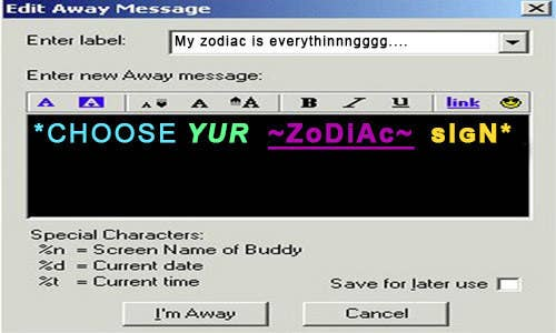 Which AIM Buddy Icon Are You Based On Your Zodiac Sign?