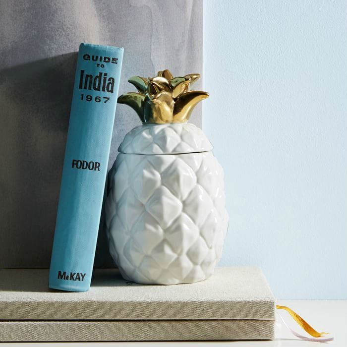 Not only does this fun, ceramic vessel make for a great accent piece in your home, but its fragrance transports you to the tropics. Get it here for $29.