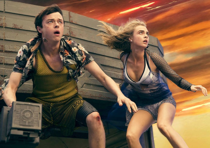 """Coming into Comic-Con, one of the biggest question marks was what attendees would make of the big-screen adaptation ofValerian and the City of a Thousand Planets: The beloved French sci-fi comic book series is popular in Europe, but remains relatively obscure in the US. The film's writer-director Luc Besson and his producer (and wife) Virginie Besson-Silla first unspooled a bevy of eye-popping concept art that revealed the film's expansive and visually ambitious world. Then they played a series of colorful and fun clips from the film that established Valerian as unlike anything else in the current Hollywood landscape — and instead harkened back to Besson's 1997 sci-fi adventure The Fifth Element.The clips — which won a standing ovation from the Hall H audience — featured Dane DeHaan as the eponymous """"space bro"""" Valerian (DeHaan's words), Cara Delevingne as his kick-ass partner Laureline, Ethan Hawke in some quite creative nose jewelry, and the briefest of glimpses of Rihanna playing some kind of nightclub performer who is, apparently, more than what she seems. """"You don't even know,"""" DeHaan exclaimed in the panel. """"Rihanna's part is so crazy."""" Audiences will get to see what DeHaan means when the film opens on July 21, 2017. —Adam B. Vary"""