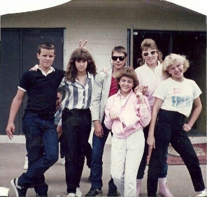 """This was Junior High. I'm on the far right, and yes, I'm wearing a 'Fresh' Kool and the Gang concert T-shirt.""—firefighter27"