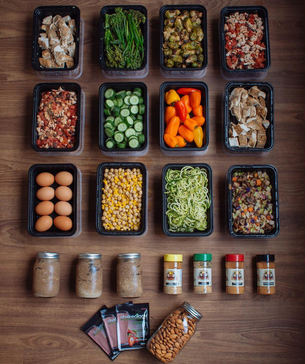 This Sunday meal prep that's basically a fancy salad bar in your fridge.