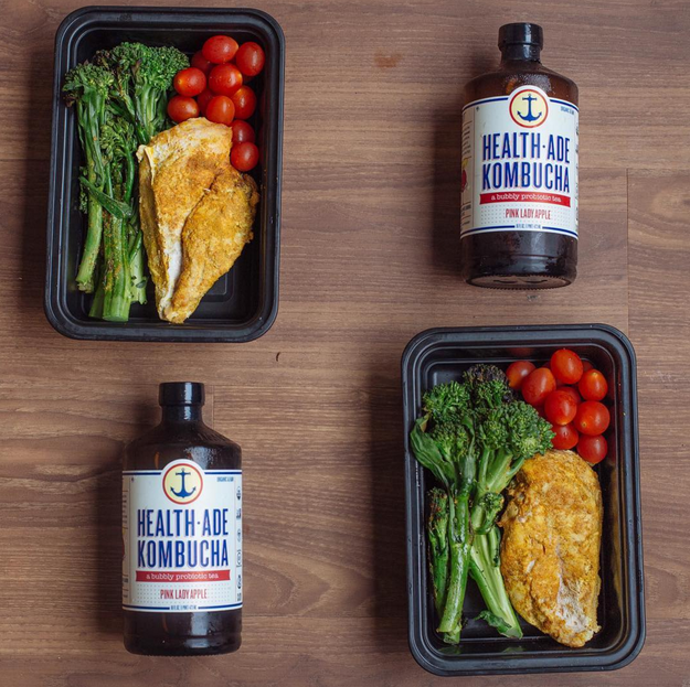 This curry chicken that pairs perfectly with kombucha.