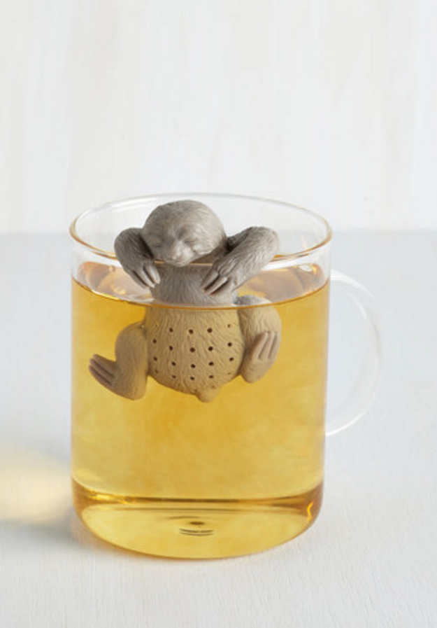 This little sloth that'll brew you a perfect cup.