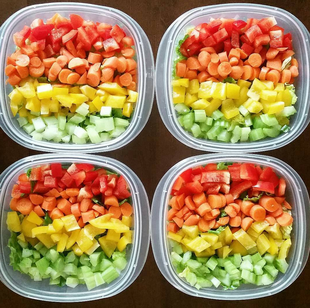 These colorful veggies.