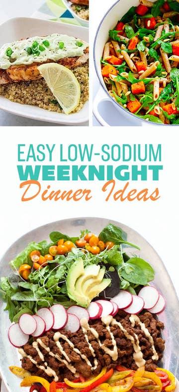 menus for salt free diet