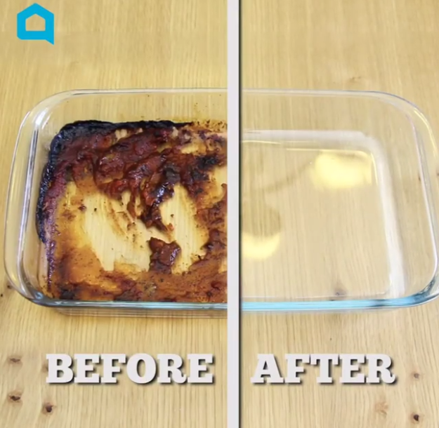 Tough cooking grease comes off easily by scrubbing with aluminum foil and soap — who knew?!
