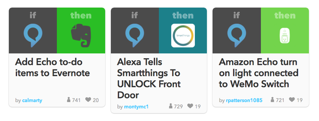 There are a ton of Alexa features you can add through IFTTT.