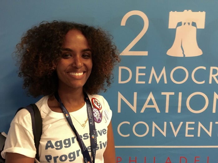 Lula Dualeh, 29, a Sanders delegate from North Carolina.