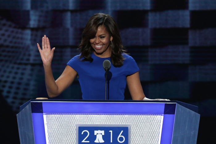 """When they go low, we go high,"" Michelle Obama said yesterday at the DNC."