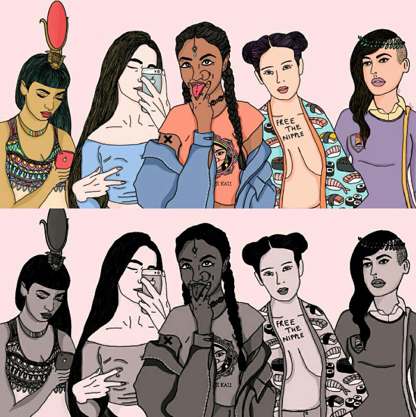 """Paul told BuzzFeed, """"It [the series] talks about oppression across cultures, and the reclaiming of female bodies, sexualities and voices across different cultures. The point of them being goddesses was to put across the idea of women today being goddesses like the mythological ones — strong, fierce, and epitomes of feminine divinity."""""""