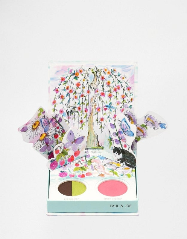 It's a makeup palette with pop-up flowers.