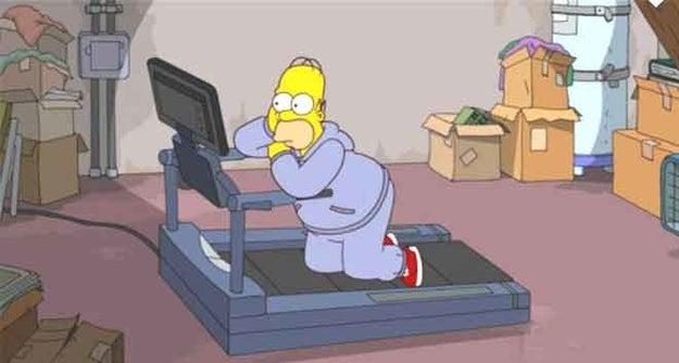 Distraernos completamente con lo que hay en la televisión hasta el punto de dejar de entrenar.