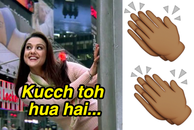 """Clapping twice on instinct if anybody ever sings the first few words of the """"Kucch Toh Hua Hai"""" hook."""