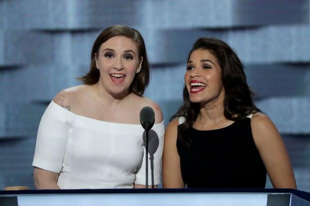 Lena Dunham And America Ferrera Went In On Donald Trump