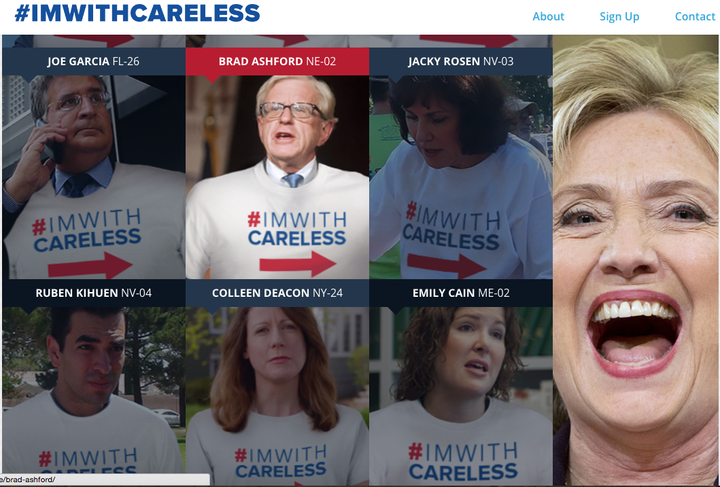 """GOP Super PAC Launches """"I'm With Careless"""" Website Tying Vulnerable Dems To Clinton"""