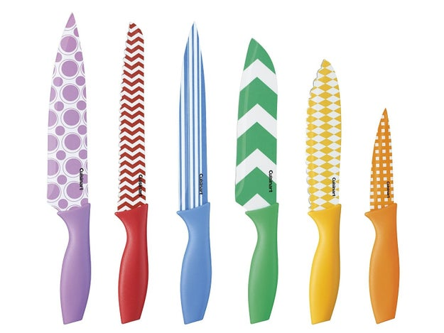 This set of fun, colorful, and deceivingly sharp knives.