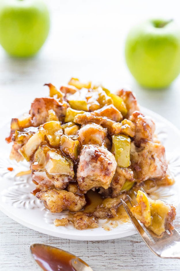 Caramel Apple Cinnamon Roll Bake