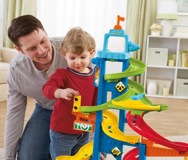 A tower for toy cars that you'll totally end up playing with along with your kids.