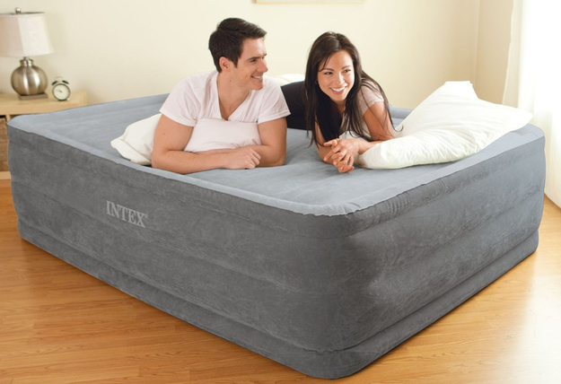 A comfy airbed (with a built-in electric pump) to pull out whenever you have houseguests.