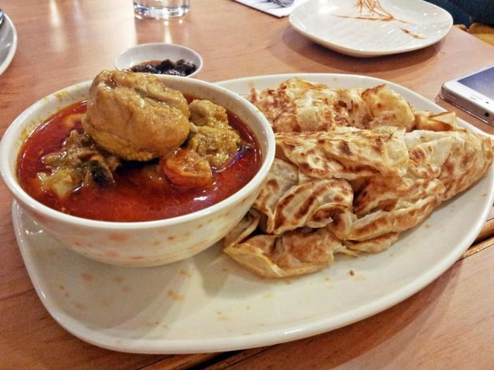 It's hard to wrong at this mouth-watering Malaysian place. Look at that fluffy fresh roti, and the bowl of steaming curry. You can get a roti canai (the above combo) for £5.50 – meaning you could take a date, and only just about go over a tenner. Bingo.