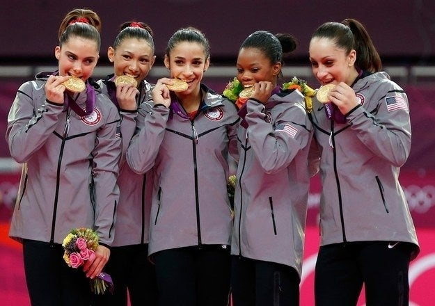 AKA the Fab 5, AKA Mean Girls IRL, AKA the first US women's gymnastics to win a team gold since 1996. Luckily, two members of the team, Aly Raisman and Gabby Douglas, are going to Rio for the chance for another Olympic win, so the obsession will definitely continue.