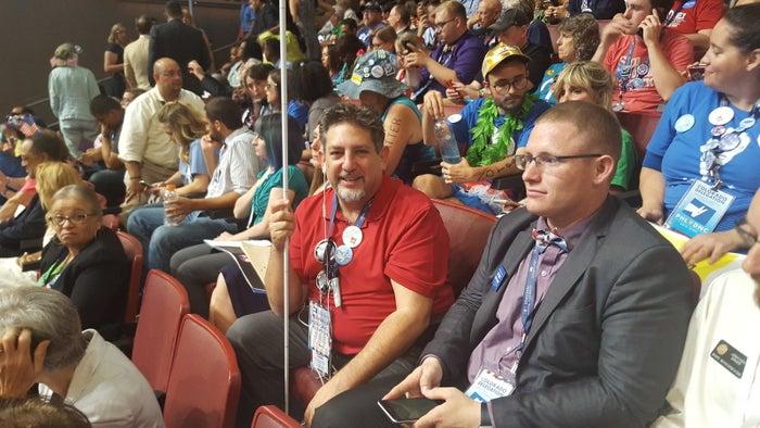 Mark Lasser alongside other Colorado delegates.