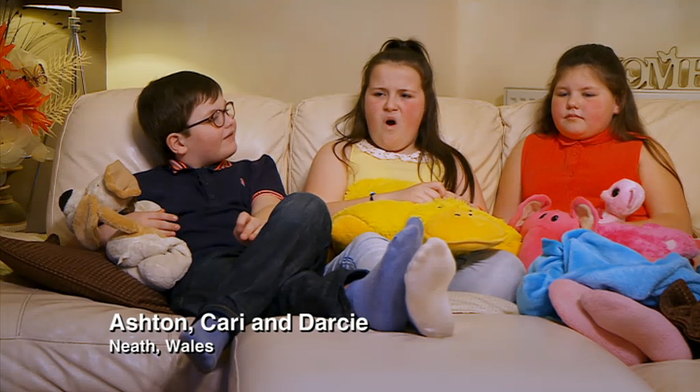 They're on the British show called Gogglesprogs, which is the kid spin-off of Gogglebox. They live in Neath, near Port Talbot in Wales.