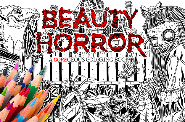 The Scariest Coloring Book For Adults Is Coming