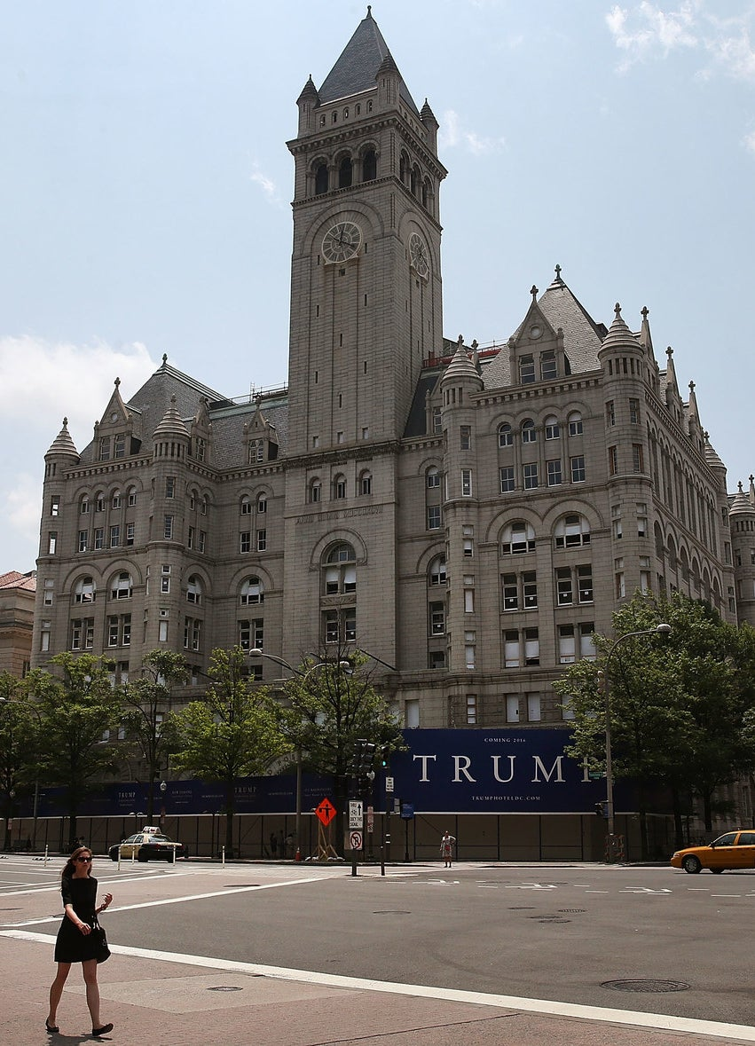 The Old Post Office building, site of Trump's new hotel, in Washington, DC.