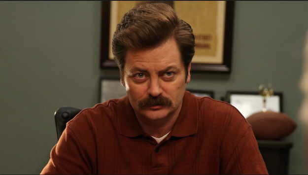 And THIS is Ron Swanson, from Parks and Recreation.