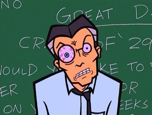 Aunque ese ojo saltón del profesor DiMartino también era un súper plus.